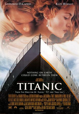 Titanic movie poster with Trajan